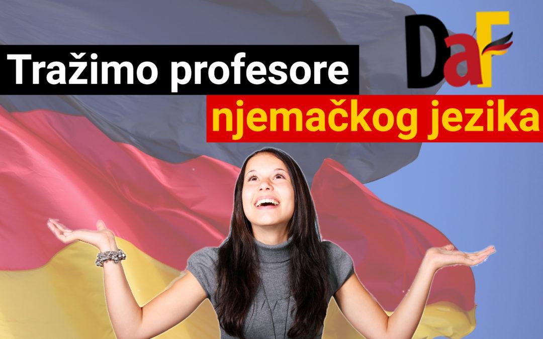 OGLAS ZA POSAO: Tražimo tri profesora njemačkog jezika